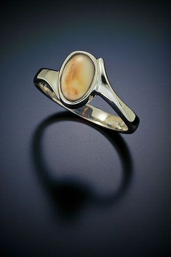 birthday wish.  elk ivory ring