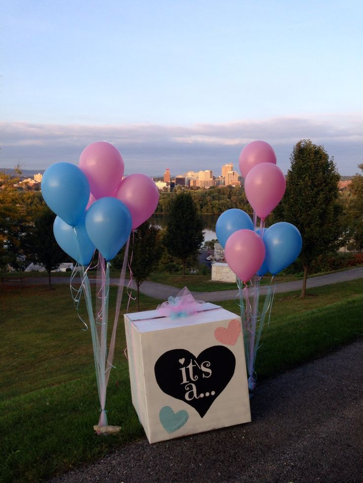 Our gender reveal box :)