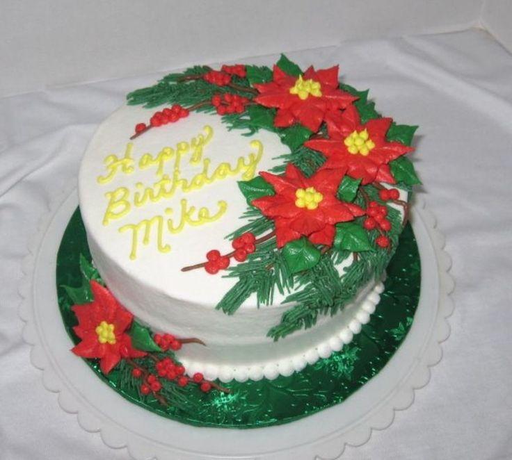 Christmas Poinsettias  on Cake Central