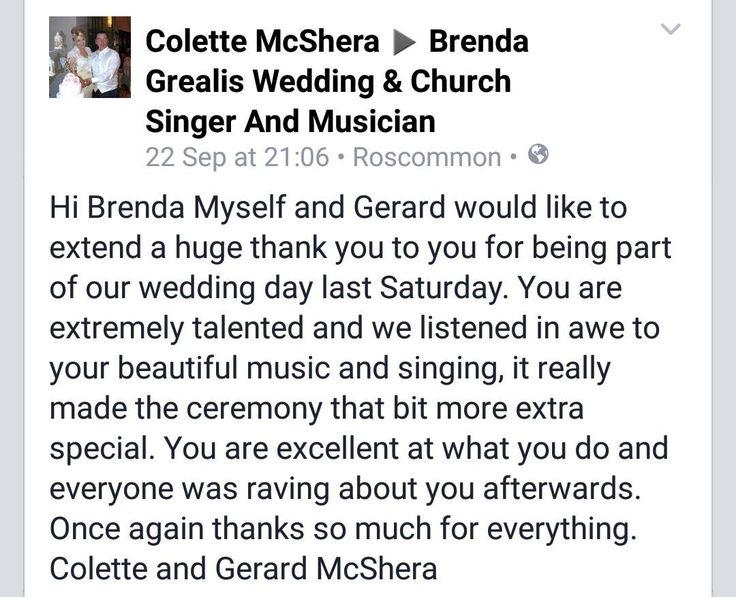 http://www.musicbybrenda.com/  #wedding #Ireland #Connaught #ideas #testimonials