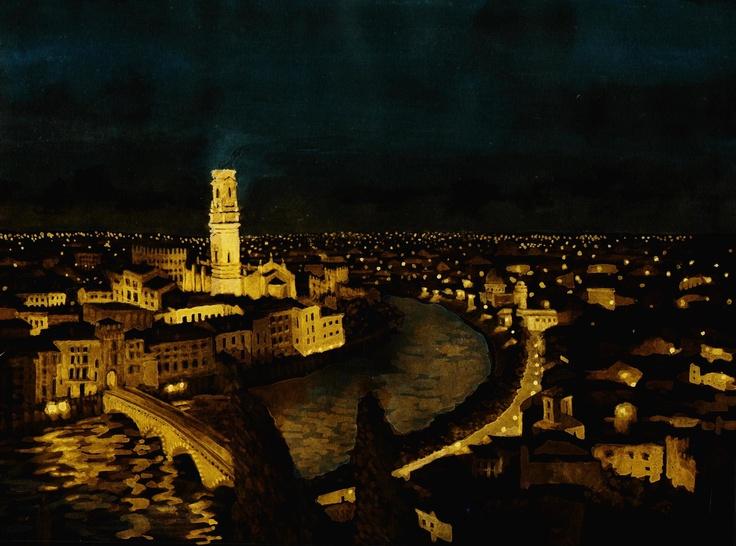 - VERONA -  Watercolours by night