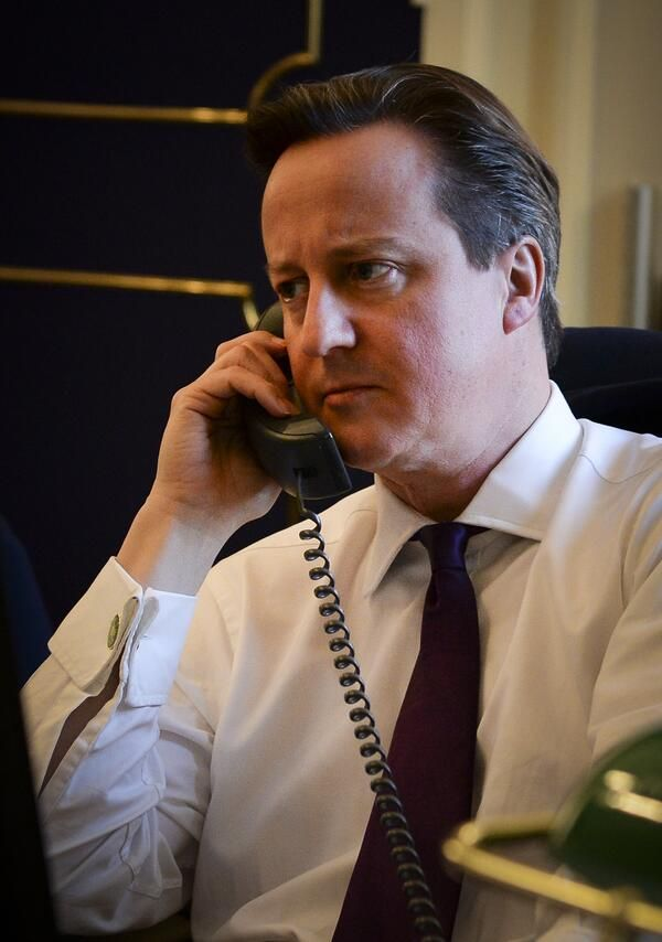 David Cameron Posted A Picture Of Himself On The Phone And Spawned A Meme