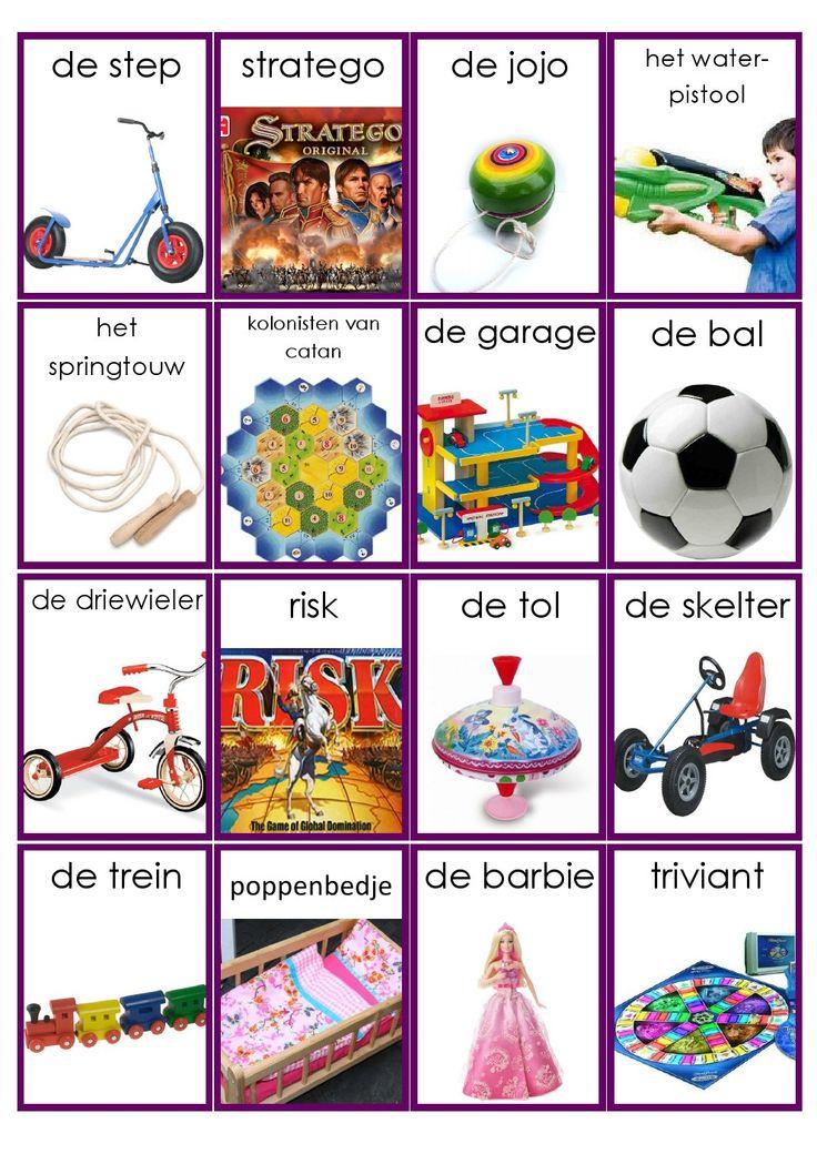 Speelgoed woordkaarten - deel 2