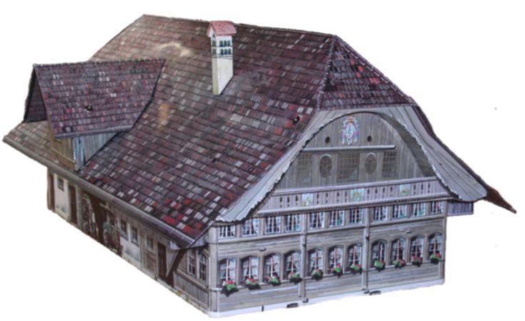 tinbox Bauernhaus Ostermundigen - Original house at Freilichtmuseum Ballenberg/Schweiz