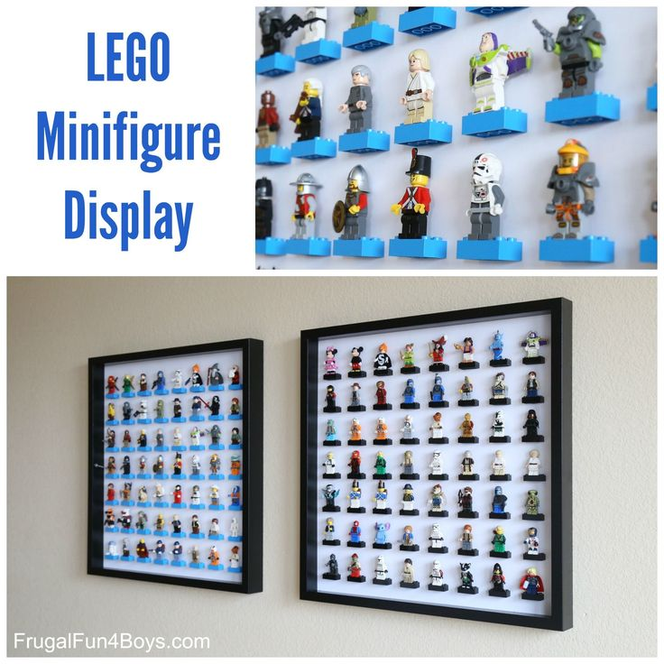 LEGO Minifigure Display and Storage with IKEA Frames - use IKEA RIBBA Frame, black, Article Number: 200.780.50