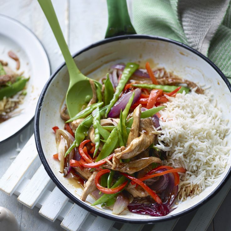 Jo Wicks' sweet and sour pork with rice provides a super healthy alternative to the takeaway version.