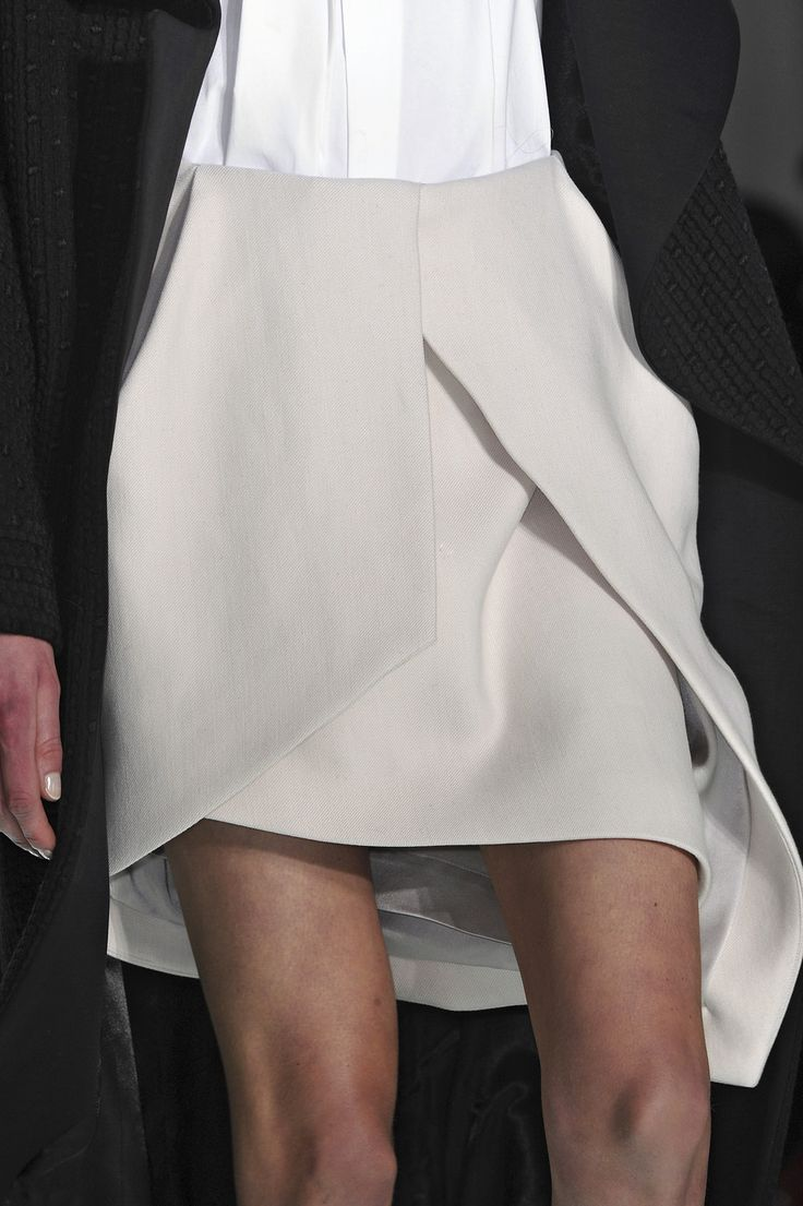 Asymmetric Skirt - chic tailoring, runway fashion details