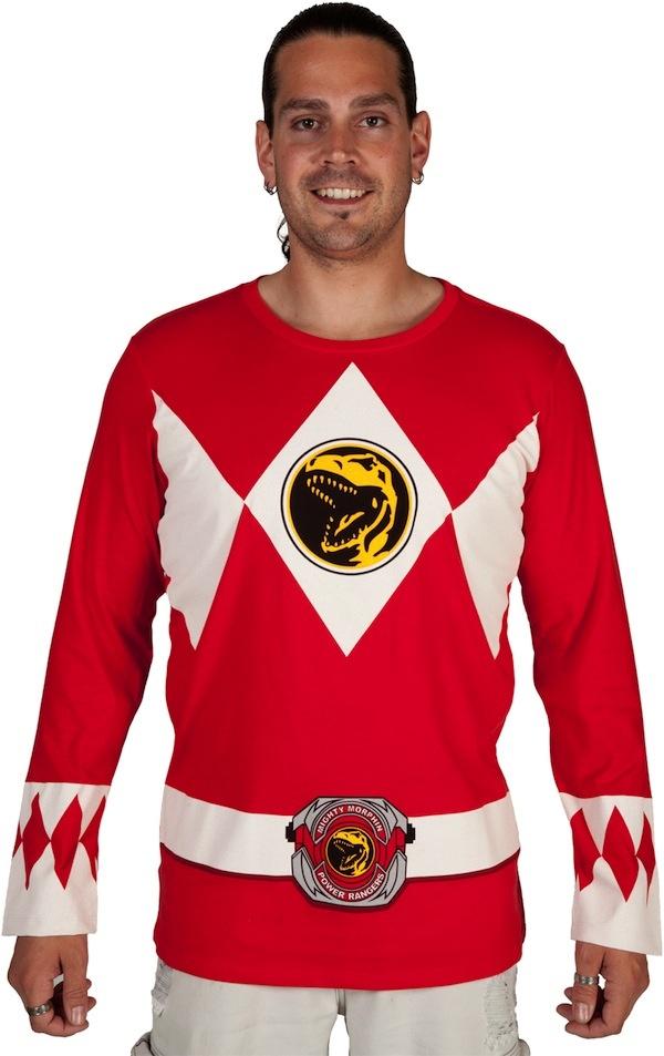 Go, Go Power Rangers Long Sleeve Costume Shirts!