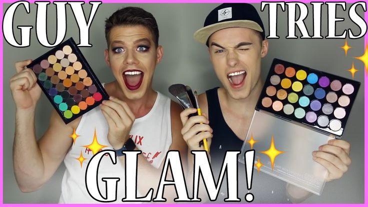 Muscular Guy Goes GLAM for the FIRST TIME EVER! Ft. Wesley Benjamin Carter