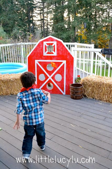 For when he's bigger! Maybe his 4th! :-) Down on the Farm Birthday Party!