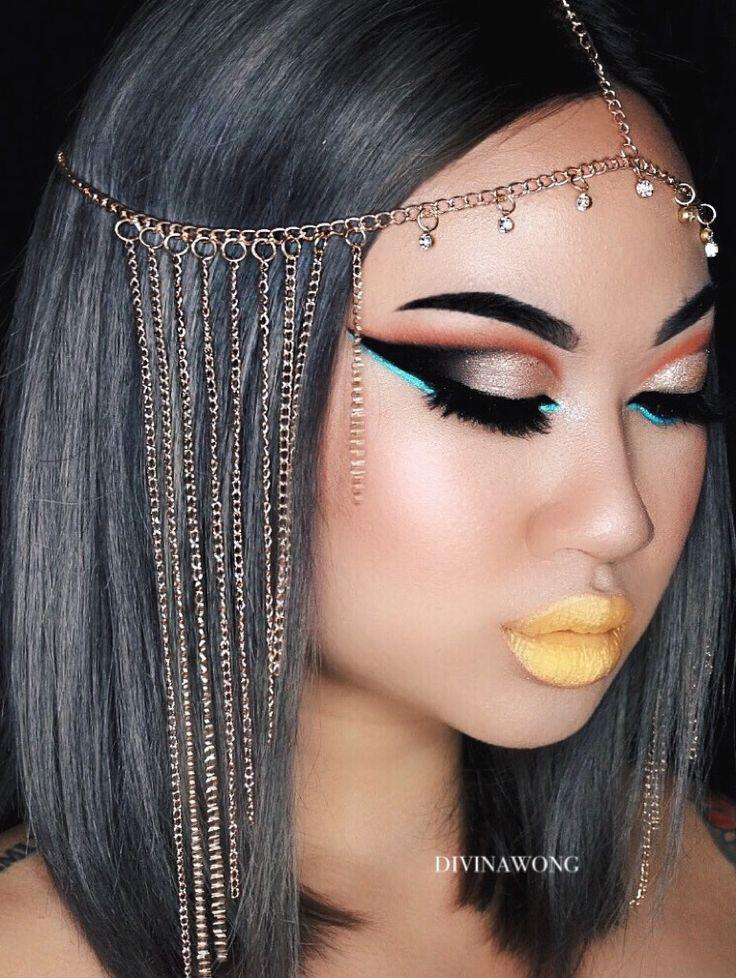 @iluvsarahii 's cleopatra / Instagram: divinawong #makeup #cleopatra #halloweenmakeup