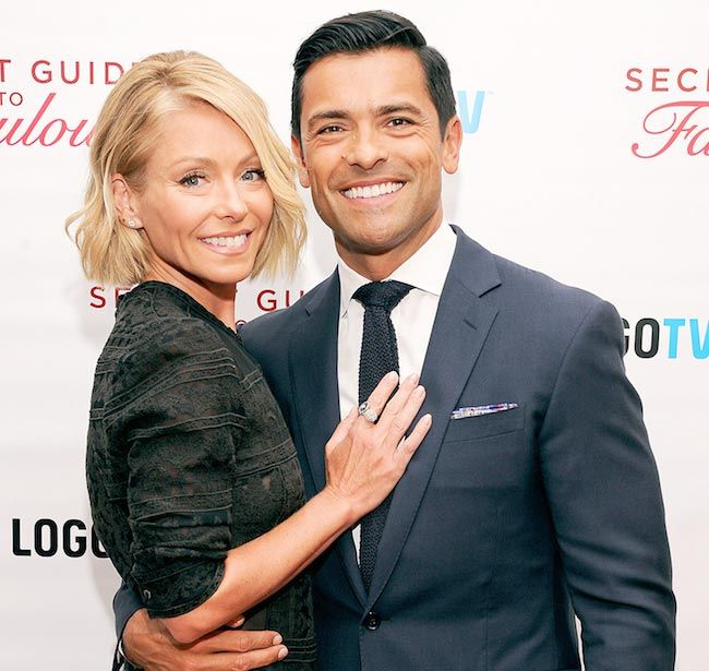 Actress Kelly Ripa and husband Mark Consuelos...