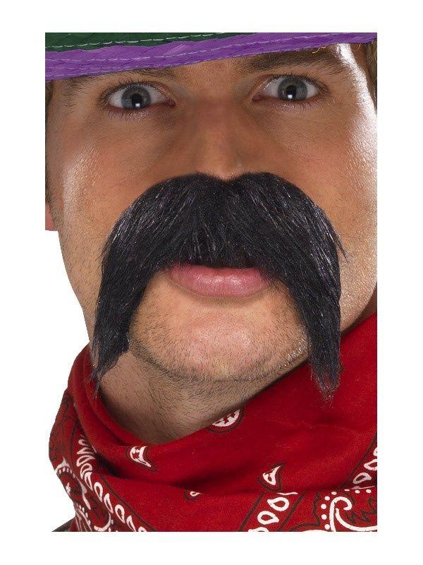 Rzucające się w oczy, kowbojskie wąsiska :)