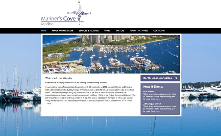 Website design for Mariner's Cove Marina. #websitedesign #webdesign #web #design #graphicdesign #website #websites