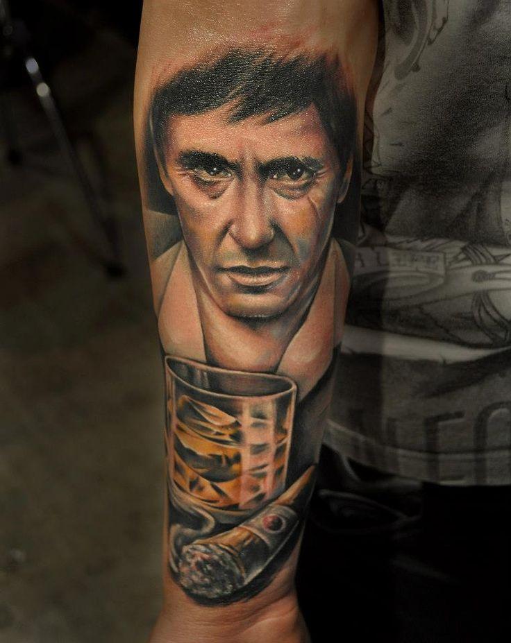 Al pacino tattoo by benjamin laukis tattoos pinterest for Best tattoo artist in alabama