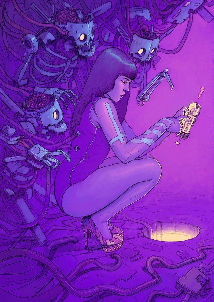 Une sélection desmagnifiques illustrations futuristes de Josan Gonzalez, un artiste espagnol qui nous entraine dans un univers coloré où s'entremêlent dé