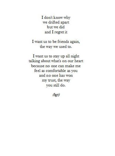 Drifting apart, Friendship quotes