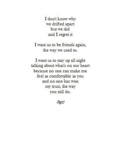 Drifting apart, Friendship quotes