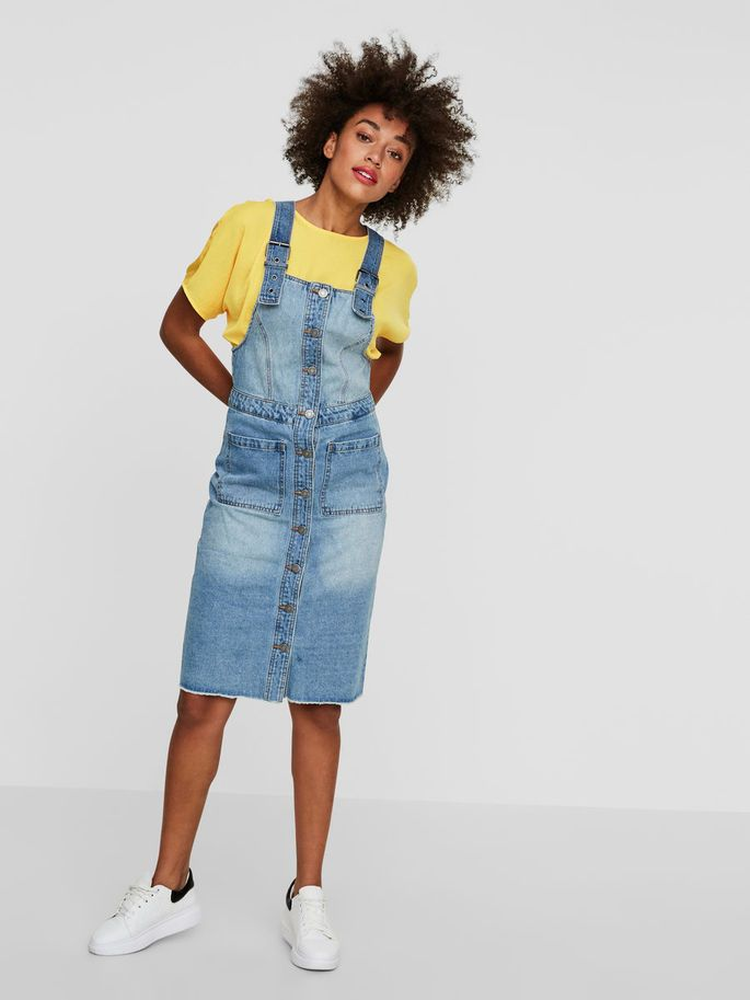 239594d1ec661b TUINBROEK JURK, Medium Blue Denim, large | stijl | Denim, Overall ...