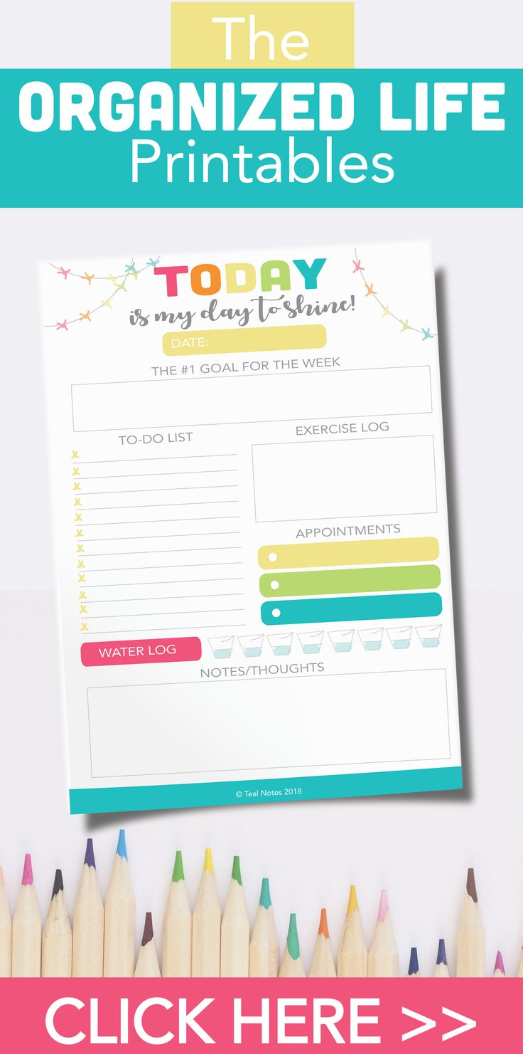 The Organized Life Printable Planner | Meal Planners | Budgeting Printables | Expense Trackers | Shoppin List | Password Keeper | Project Planner | Teal Notes Lifestyle Blog |