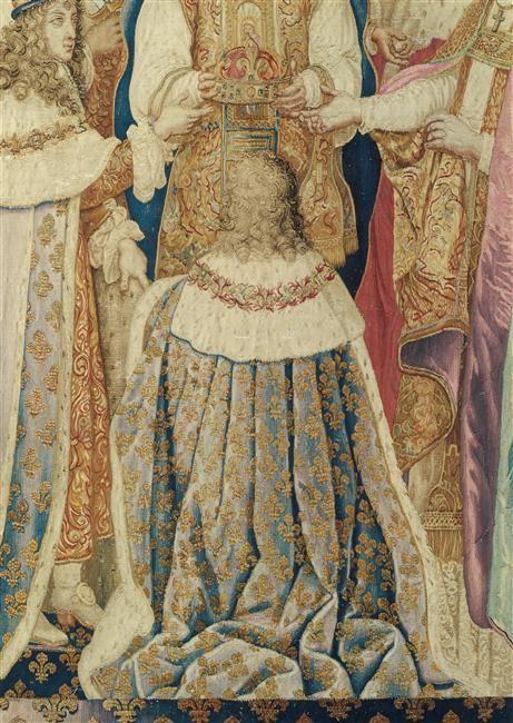 Sacre de Louis XIV (gobelin selon un carton de Charles Le Brun)
