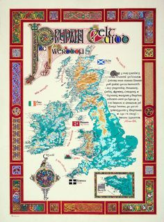 I just found this! Beautiful wall map of Celtic nations--I WANT IT!! <3 (And the place names are shown in the native languages of their respective areas, plus the Latin names of ancient tribes!!!)