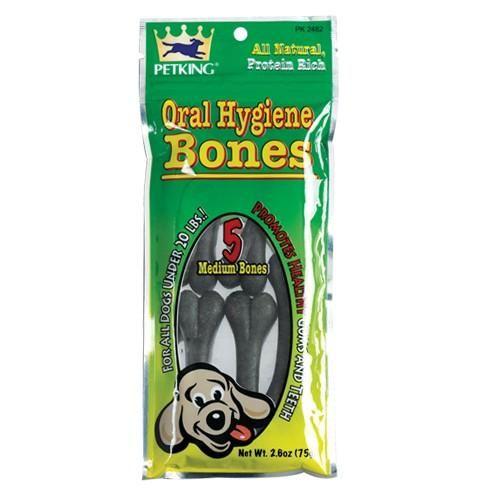 All Natural Protein Rich Oral Hygiene Dog Bones Treats, 5-ct