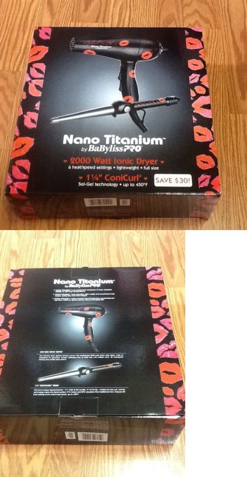 Hair Dryers: Babyliss Pro Nano Titanium 2000 Watt Dryer And 1 1/4 Conicurl. Combo -> BUY IT NOW ONLY: $45.75 on eBay!