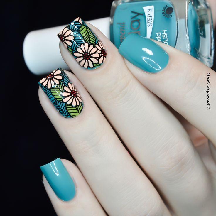 Floral manicure #nails #nailart @polishpixie92 Click for details.