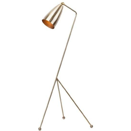 llewyn antique brass floor lamp