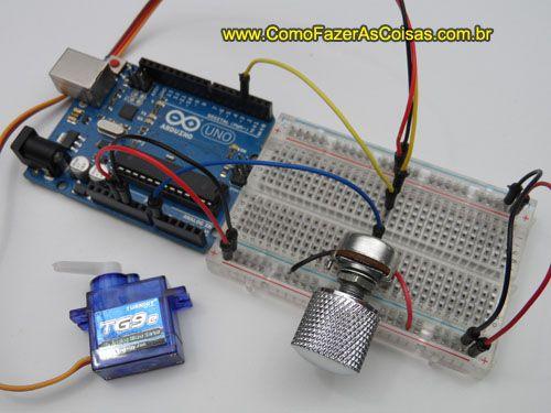 Aprenda este projeto em http://www.comofazerascoisas.com.br/controlando-um-servomotor-com-potenciometro-no-arduino.html
