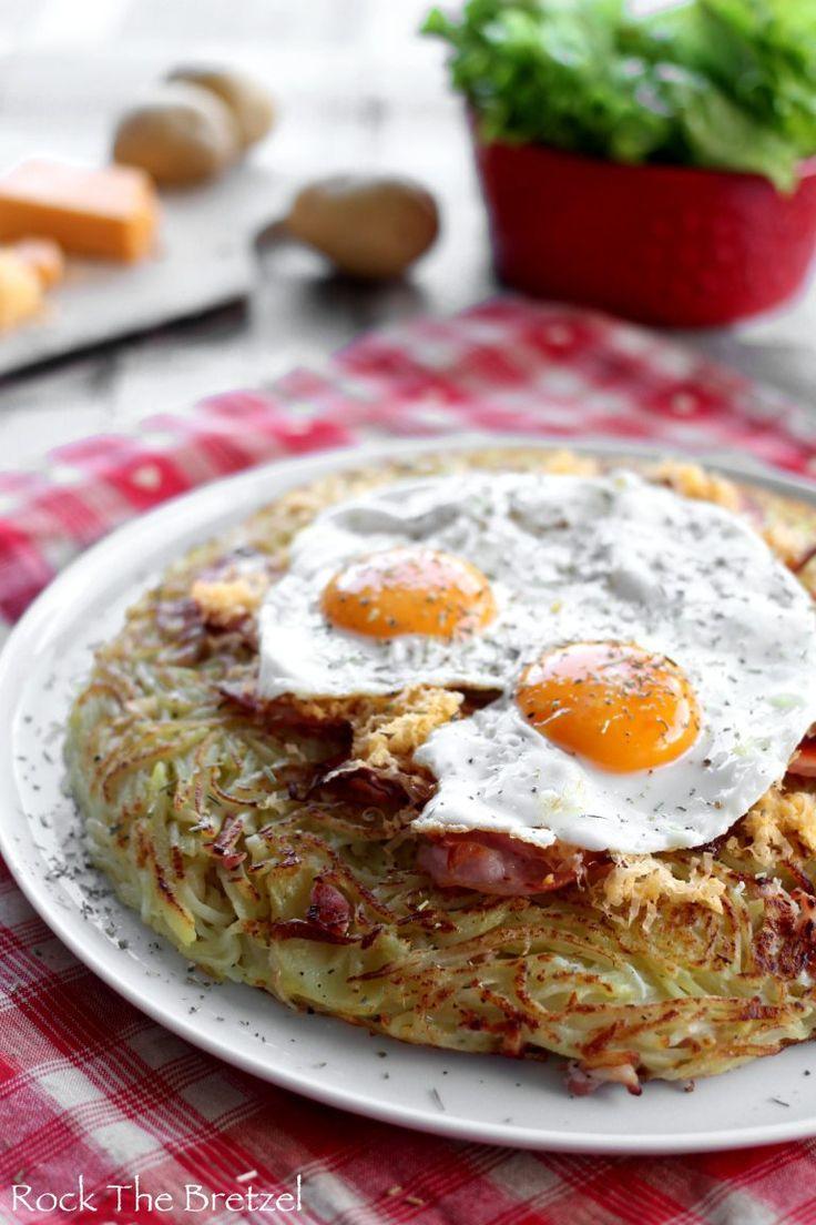 Rösti « Chrüüzbode-chlapfhöchi » (ou roesti bacon et œufs, version géante)