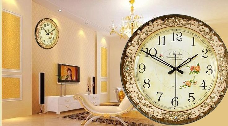 Fashion antique rustic Large mute wall clock fashion antique fashion quartz clock modern clock