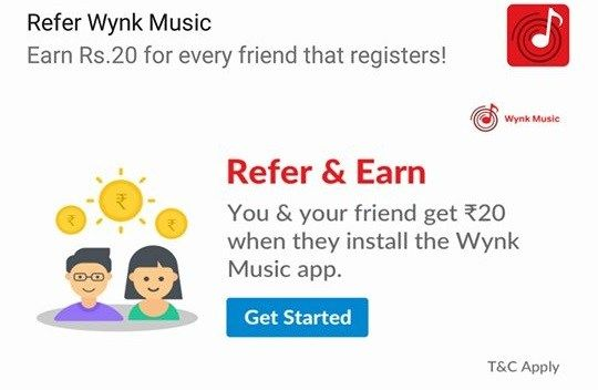 Wynk Music App: Get Rs 20 on Signup & Rs 20 Per Refer | AVJ