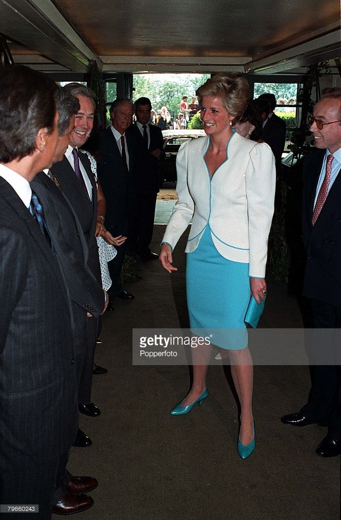 British Royalty, London, England, 30th April 1990, H,R,H, Diana The Princess of Wales pictured at an Aids Crisis lunch at the Savoy Hotel