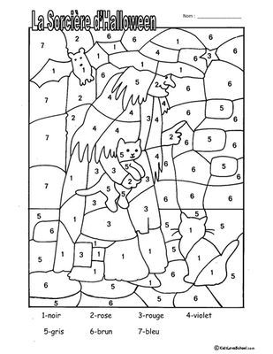 Halloween Colouring Activities and Haunted House Number Fun in FRENCH! from KidsLoveSchool! on TeachersNotebook.com (3 pages)