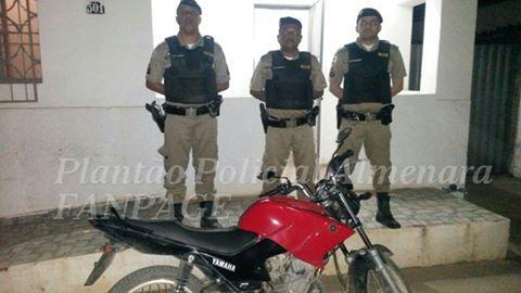 Notícias: Policia Militar recupera motocicleta furtada duran...