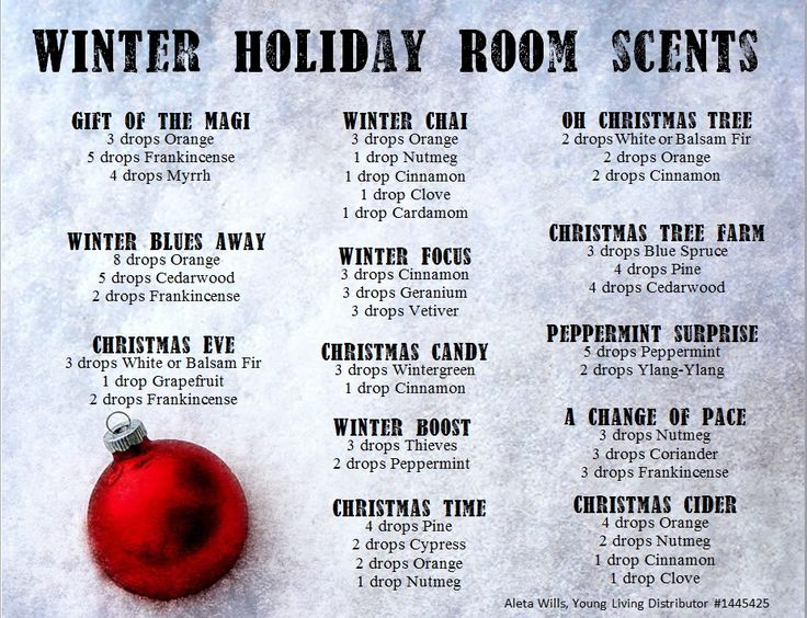 Holiday Room scents, young living oils, no diffuser, add to a spray bottle with a teaspoon of witch hazel and fill with distilled water, shake and spray. Aleta Wills, Young Living Distributor #1445425