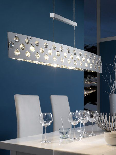 Oblong Crystal and Glass Chrome Light. 29 best Rise and fall lights images on Pinterest   Ceilings  Room