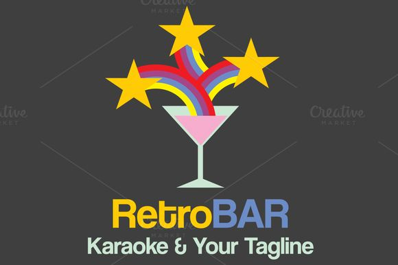 Retro Bar Logo Template by Minhocossauro Emporium on Creative Market