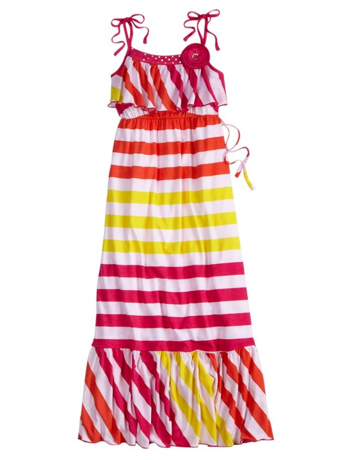 Girls Clothing   Dresses   Stripe Ruffle Top Dress   Shop Justice