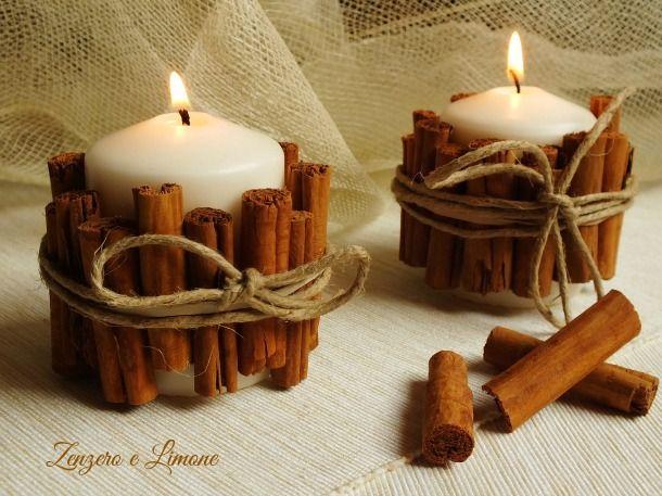 Ecco come preparare una raffinata candela fatta in casa con della semplice cannella e dello spago. Una idea carina anche per dei piccoli regalini.