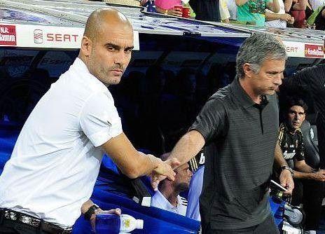 Josep Guardiola jako trener Man City i Jose Mourinho jako trener Man Utd • Tak będą wyglądały derby Manchesteru w przyszłym sezonie >> #mourinho #guardiola #football #soccer #sports #pilkanozna