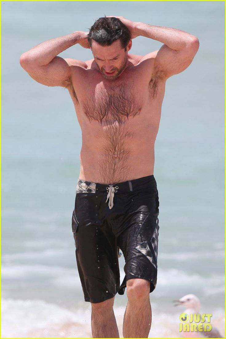 Hugh Jackman: Shirtless at Bondi Beach