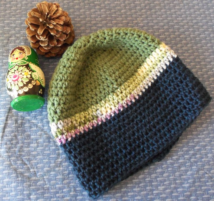Bev's Basic Crocheted Hat ~ Hodge-Podge Beanie -- great way to use up stash yarn