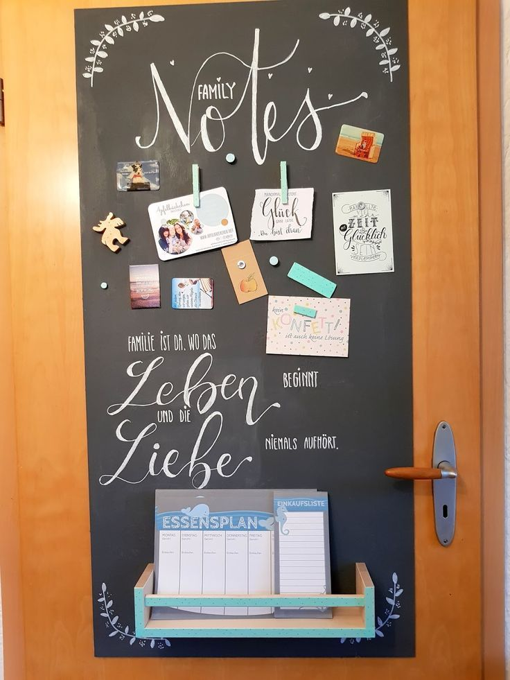 DIY-Tipp: Magnetisches Blackboard aus Holz