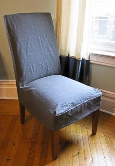 Reposhture Studio: How to make Parsons Chair Slipcovers when the chair has some serious curves!