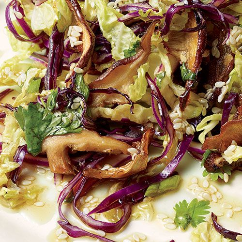 Crispy Shiitake Salad from Women's Health: made it tonight, so yummy!