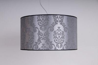 abażur -kolor srebrny , wzór . rozmiar fi 40 cm h 20 cm