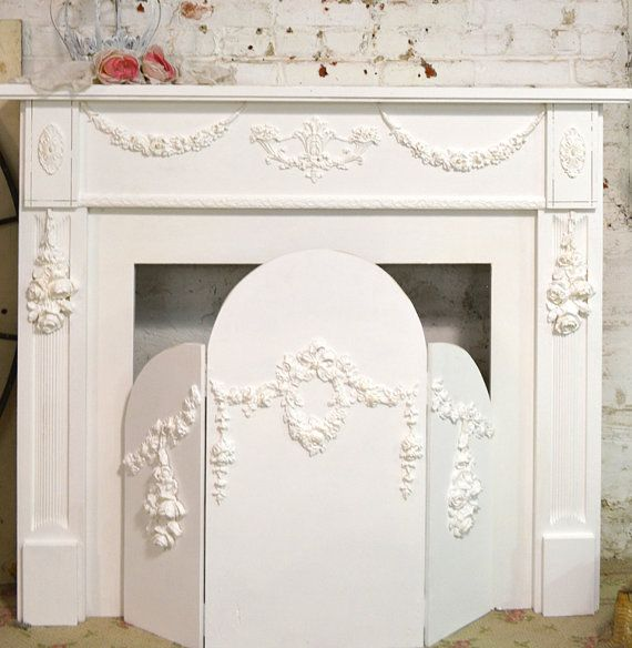 Painted Cottage Shabby Chic Fireplace Screen by paintedcottages